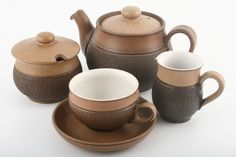 Sell your Denby Tableware Denby Pottery, Teapots And Cups, Tea Sets, Kitchen Tools, Cookware, Tea Time, Dinnerware, Stoneware, Sauces