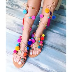 """Bohemian sandals """"Peony greek leather sandals (€130) via Polyvore featuring shoes, sandals, real leather shoes, bohemian sandals, leather sandals, bohemian shoes and bohemian style shoes"""