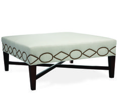 Lee cocktail ottoman in Chambers Linen