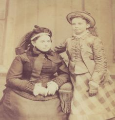 Jackson's wife Mary Anna and daughter Julia Laura