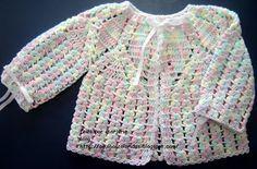 Agujas de color Croche y Trico: PAP Cardigan bebe croche