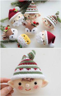 Crochet Christmas Ornaments Patterns The Whoot - häkeln sie weihnachten ornamente muster the whoot - motifs d'ornements de noël au crochet the whoot Crochet Ornament Patterns, Crochet Ornaments, Christmas Crochet Patterns, Holiday Crochet, Christmas Knitting, Crochet Patterns Amigurumi, Crochet Dolls, Crochet Snowflakes, Quilling Patterns
