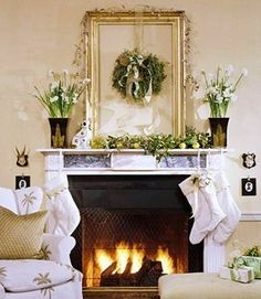 Classic Chic Home: Dreamy White Christmas Decorating Ideas