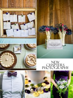 Love this wedding with its mustaches, pies, bow ties and seating chart!