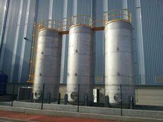 Depósitos de 35.000 lts fabricados en Acero Inoxidable para la empresa Alkargo - Mungia
