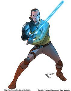 Kanan - Axel Medellin Star Wars Poster, Star Wars Art, The Phantom Menace, The Empire Strikes Back, Anakin Skywalker, A New Hope, Star Wars Rebels, Last Jedi, Love Stars