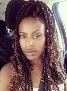 Kinky Twists Hairstyles Unique 30 Hot Kinky Twists Hairstyles To Try In 2018  Burgundy Highlights