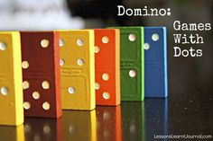 Two domino games for preschoolers and young children. Domino activities and games with dots, help children learn to subitise.