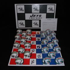 New York Jets vs. Miami Dolphins Checkers Board Game NFL Football AFC Rivalry #NFL