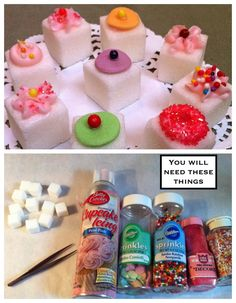 How To: Decorate Sugar Cubes..The Easy Way!