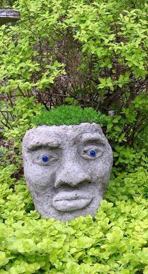 Hypertufa Head Planter - Garden Art - Photo Gallery - Cafe Garden