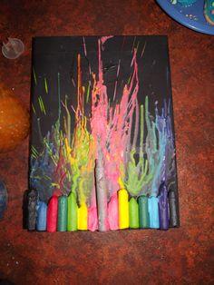 Crayon melting craft activity...