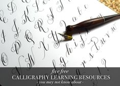 5 Free Calligraphy Learning Resources You May Not Know About – The Postman's Knock Calligraphy Tattoo Fonts, How To Write Calligraphy, Calligraphy Letters, Modern Calligraphy, Hand Lettering Art, Cool Lettering, Calligraphy Worksheets Free, Fancy Writing, Script Writing