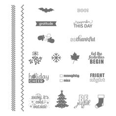 Project Life Holiday Cheer Photopolymer Stamp Set - by Stampin' Up!