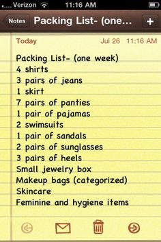 Vacation Packing Tips | CheckInTheMirror