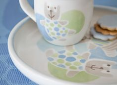 Nallukka Mug Electric Oven, Stork, Nest, Pottery, Mugs, Tableware, Design, Nest Box, Ceramica