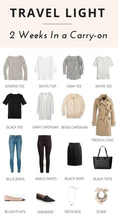 Travel Light: 2 Weeks In a Carry-on - Classy Yet Trendy - Roupas de viagem - AeroLook - Travel Weeks In a Carryon Outfit Elegantes, Classy Yet Trendy, Classy Casual, Classy Chic, Travel Capsule, Travel Wear, Look Fashion, Fashion Tips, Travel Fashion