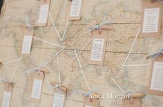 Vintage world map table plan by Coastalcreatives. Photography by Anna Morgan Wedding Table, Diy Wedding, Wedding Ideas, Anna Morgan, Seaside Wedding, Table Plans, Beautiful Beaches, Beautiful Homes, Vintage World Maps
