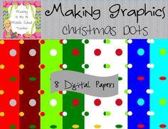 Classroom Freebies Too: Christmas Dots ~ Digital Papers