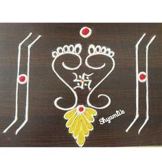 Easy Rangoli Designs Diwali, Rangoli Simple, Indian Rangoli Designs, Rangoli Designs Latest, Simple Rangoli Designs Images, Rangoli Designs Flower, Free Hand Rangoli Design, Small Rangoli Design, Rangoli Border Designs