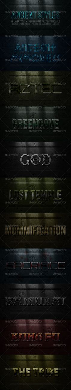 Ancient Styles  #GraphicRiver