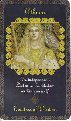 ✯ Athena in Goddess Inspiration Oracle :: By Kris Waldherr ✯ Minerva! Minerva Goddess, Athena Goddess, Greek And Roman Mythology, Greek Gods And Goddesses, Daughter Of Zeus, Oracle Tarot, Angel Cards, Book Of Shadows, Archetypes