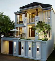 Best Modern Home Architectural Styles and Designs. Find out what style of home you like best.Most people like several home architectural styles. Architectural Styles, House Front Design, Modern House Design, House Elevation, Villa Design, Facade House, Classic House, Cozy House, Home Fashion