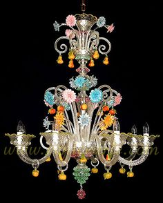 Beautiful Murano Venetian Glass Chandelier