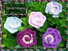 Spiral Flower - International Crochet Day 2012