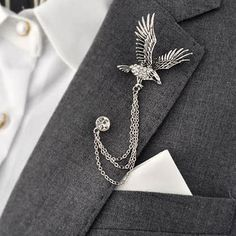 82e156f1e Retro Animal Men's Brooch For Party Fashion Formal Suits Lapel Pins Brooch  For Men Classic Male Alloy Brooch Corsage Accessories