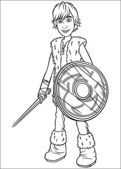 Printable Coloring Page of How to Train Your Dragon Picture 6 550x770 Picture