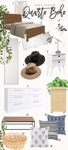 Como decorar um quarto de casal em estilo boho. Saiba onde comprar tudo!