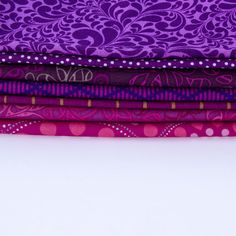 7 Red-Violet - Fat QUARTER Bundle - Quilting Fabric