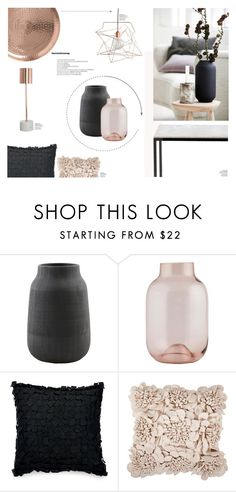 """Black & Rosé"" by nmkratz ❤ liked on Polyvore featuring interior, interiors, interior design, home, home decor, interior decorating, House Doctor, Donna Karan and Surya"