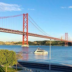 #portugal #portugal #lisbon #lisboa #bridge #25aprilbridge #river #travel #travelblogger #boat