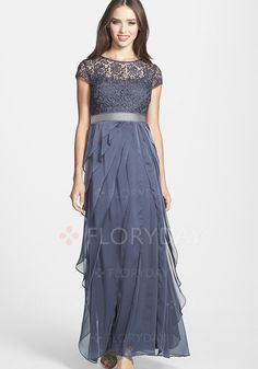 Dresses - $39.99 - Solid Sleeveless Maxi Elegant Lace Sashes Ruffles Dresses (1955103367)