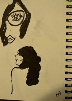 illustration_sketch_women_eyeglasses