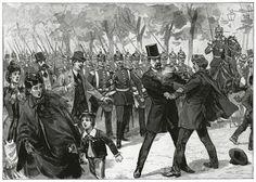 Blinds Attentat auf den Grafen v. Bismarck Unter den Linden