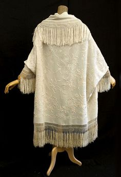 Victorian Vintage Clothing at Vintage Textile: #2007 Embroidered silk cloak