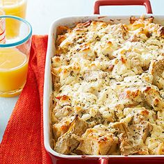 Goat Cheese, Artichoke, and Smoked Ham Strata From Better Homes and Gardens, ideas and improvement projects for your home and garden plus recipes and entertaining ideas.