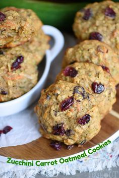 These amazing Zucchini Carrot Oatmeal Cookiesare packed full of zucchini, carrots, oatmeal, dried cranberries, and coconut! All the good stuff!
