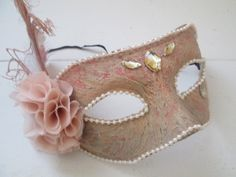 Rose Gold / Blush/ Coral / Gray Masquerade by GibsonGirlGarters