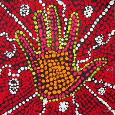 Pretty simple project, and students get really into it!  First we talk a little about the history of Australian dreamtime painting and Abor...