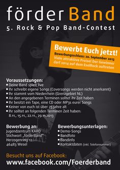 Bewerbungsinfo für den 5. förderBand-Contest