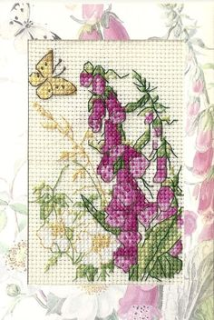 Country Diary of an Edwardian Lady Foxgloves birthday card for my partner's mum.