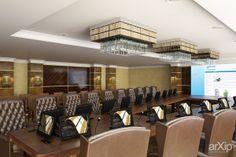 Интерьер конференц-зала: интерьер, зd визуализация, офис, администрация, переговорная комната, ар-деко, 50 - 80 м2, интерьер #interiordesign #3dvisualization #office #administration #meetingroom #artdeco #50_80m2 #interior arXip.com