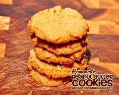 Easy Peanut Butter Cookies ~ Only 4 Ingredients!