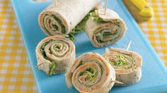 Lighten up with this simple tortilla creation--a smart twist on a classic turkey sandwich... Turkey Dijon Roll-Ups