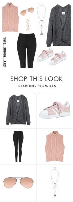 """Untitled #316"" by queenmelani on Polyvore featuring adidas, Topshop, Diesel Black Gold and Ray-Ban"