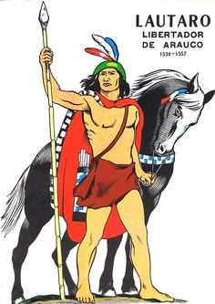 #historiadechile #Chile #Lautaro #mapuches Spanish, Illustration, Prints, Painting, Tattoos, Maps, History, Native American Indians, Tatuajes